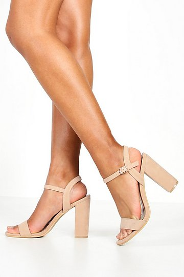 Details about  /Women Ladies High Heel Block Buckle Barely There Strappy Sandals Shoes 34//46 D