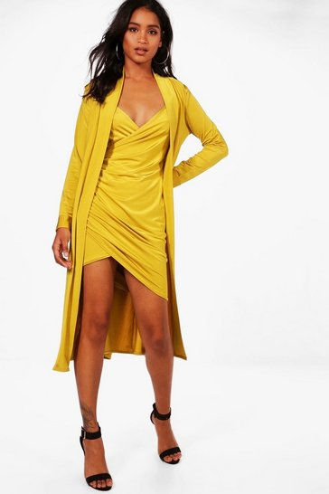 Isla Slinky Wrap Dress & Duster Co-ord