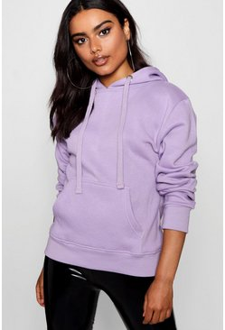 Lilac purple Basic Solid Oversized Hoody