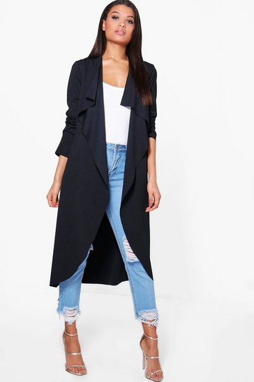 Black Waterfall Duster