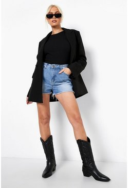 Mid Blue Wash Denim Hotpants