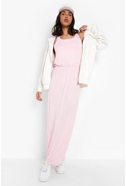 Antique rose pink Racer Back Maxi Dress