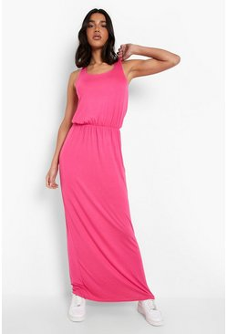 Hot pink Racer Back Maxi Dress
