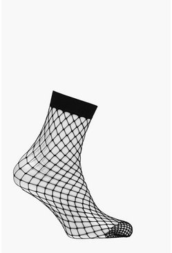 Black Diamond Fishnet Ankle Socks