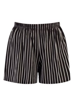 Black Stripe Jersey Shorts