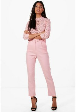 Ensemble assorti pantalon et top court Boutique, Blush rose