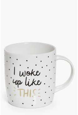 White I Woke Up Like This Mug