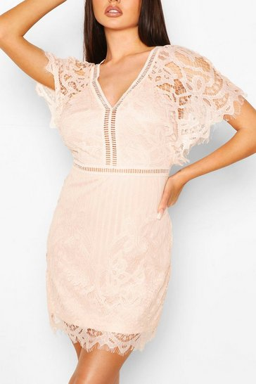 Blush Boutique  All Over Lace Bodycon Dress