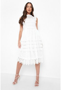 Ivory Boutique Lace Skater Bridesmaid Dress
