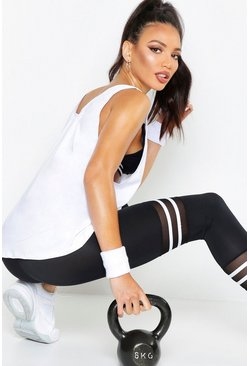 White Fit Running Vest