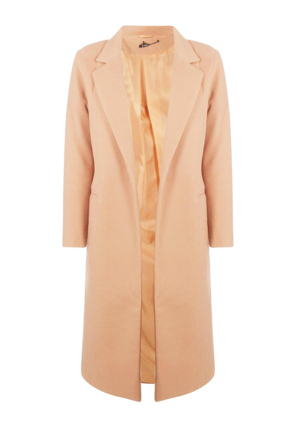 1920s Coats, Furs, Jackets and Capes History Womens Tailored Coat - Beige - M $32.00 AT vintagedancer.com