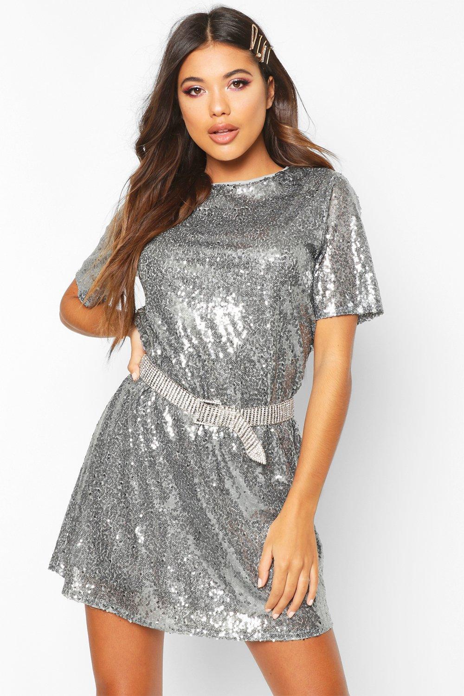 DRESSES Boutique Sequin T-Shirt Dress