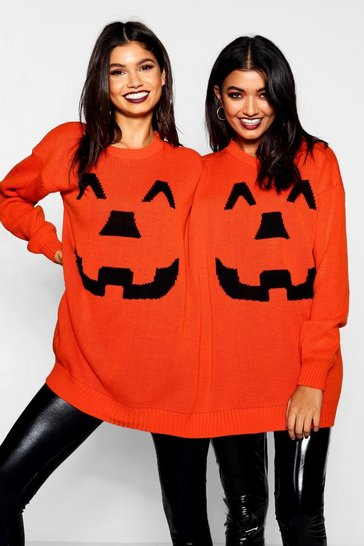 Orange Halloween Pumpkin Twin Jumper