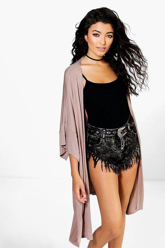 Paige Oversized Side Split Jersey Kimono | boohoo SE