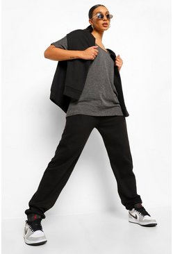 Charcoal Basic Oversized T-Shirt