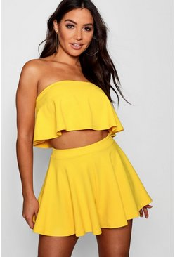 Ensemble short et top bandeau , Jaune