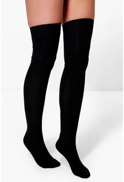 Black Over The Knee Socks 3 Pack