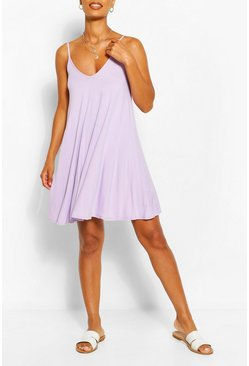 Lilac purple Basic Swing Dress