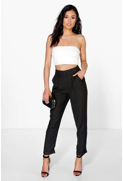 Black svart Audrey Chino Style Woven Trousers