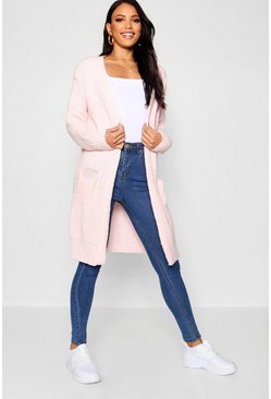 Blush pink Oversized Boyfriend Cardigan