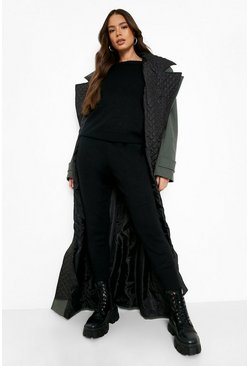 Black Boutique Heavy Knitted Loungewear Set