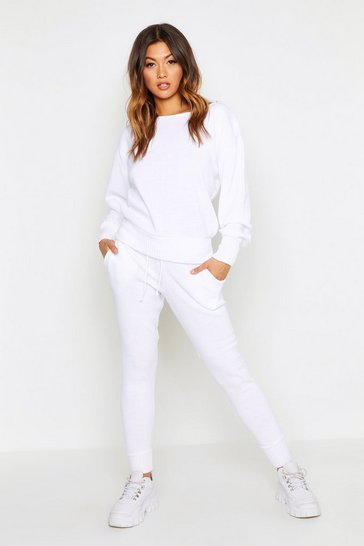 White Boutique Heavy Knitted Loungewear Set