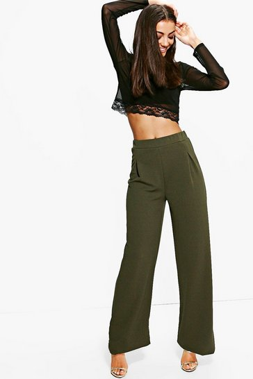 Khaki Tall Wide Leg Trouser