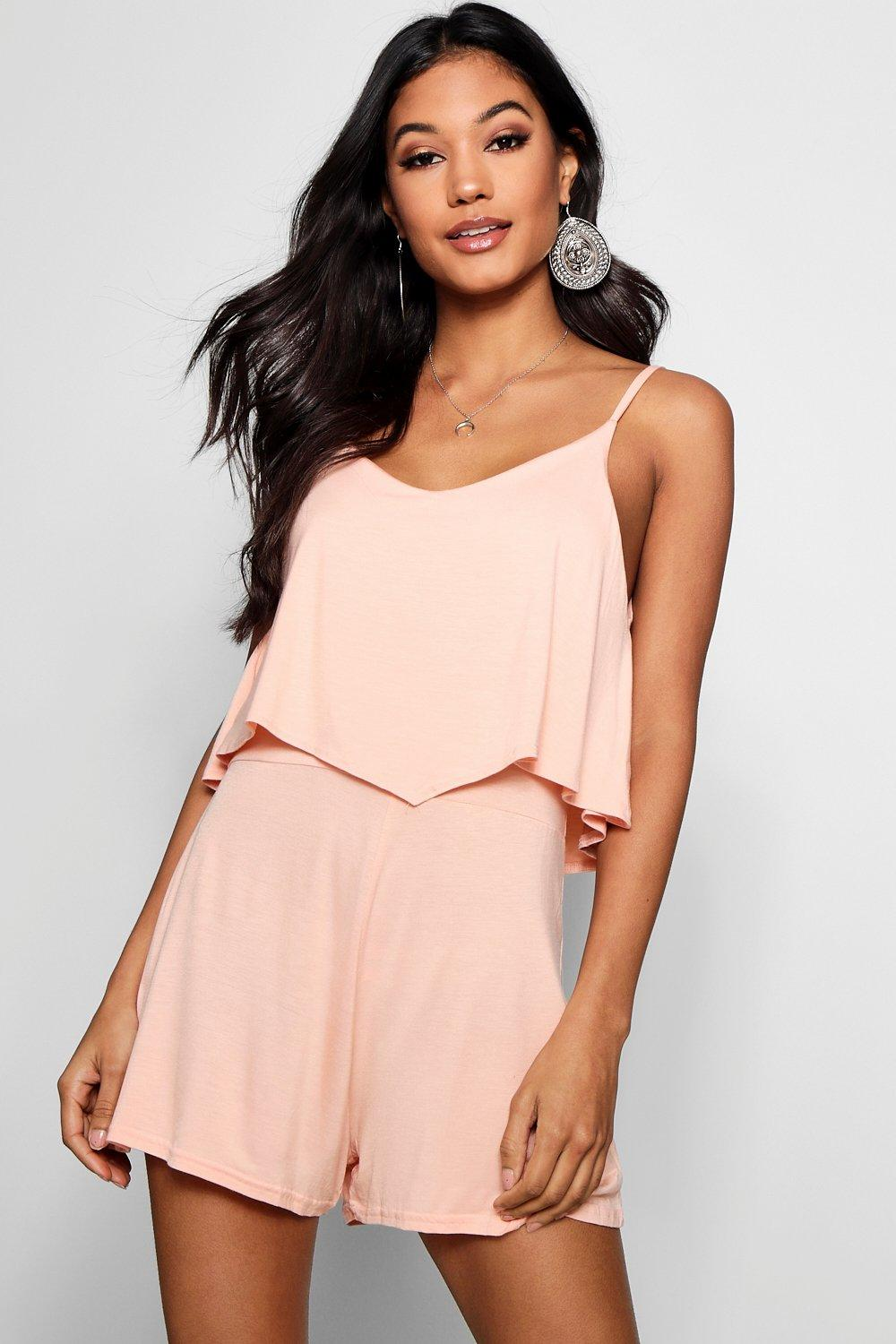 Jumpsuits & Playsuits Strappy Cami Overlay Playsuit