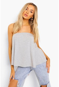 Grey marl grey Basic Swing Tube Bandeau