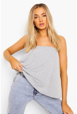 Grey marl Basic Swing Tube Bandeau