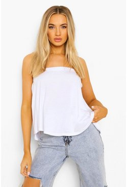 Grijs gemêleerd grey Basic Swing Bandeau Top