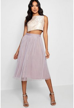 Multi Boutique Jacquard Top Midi Skirt Two-Piece Set
