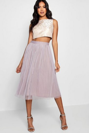 Multi Boutique  Jacquard Top Midi Skirt Co-Ord Set