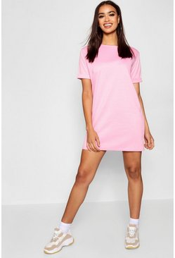 Powder pink pink Roll Back Ponte Shift Dress