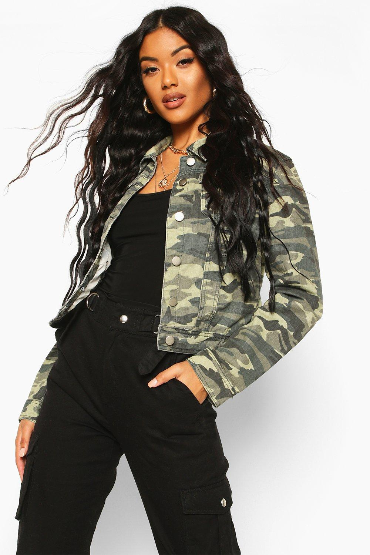 Denim Jackets Camouflage Denim Jacket