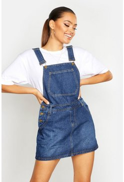 Blue Denim Dungaree Pinafore Dress