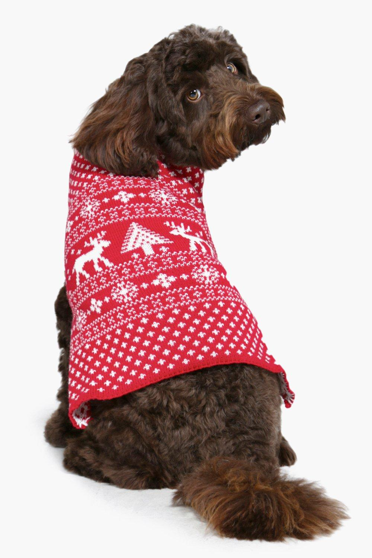 Fairisle Christmas Dog Jumper Boohoo Ireland
