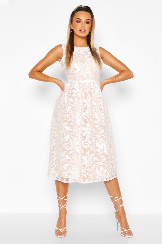 DRESSES Boutique Embroidered Skater Bridesmaid Dress