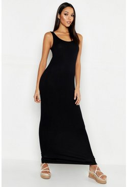 Black Tall Basic Maxi Dress