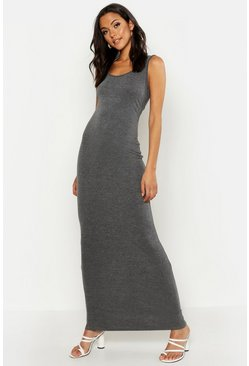 Charcoal grey Tall Basic Maxi Dress