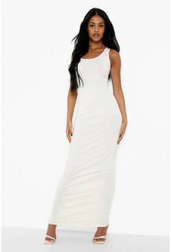 Ivory white Tall Basic Maxi Dress