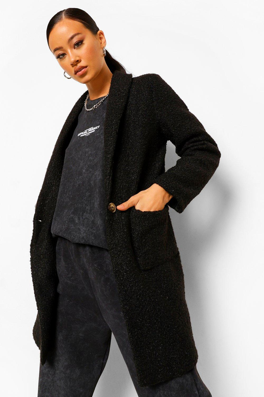 COATS & JACKETS Textured Collared Jacket