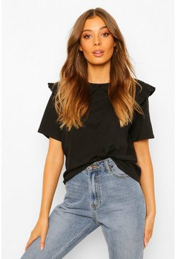 Black Peter Pan Collar T-shirt