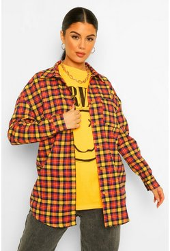 Mustard yellow Geruite Oversized Blouse