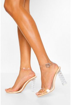 Nude Interest Clear Heel Two Parts
