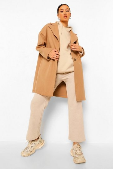 Camel beige Tailored Wool Look Coat
