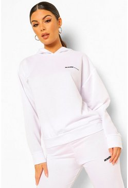 White Woman Oversized Hoodie