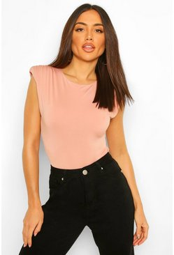 Blush pink Extreme Shoulder Pad Bodysuit