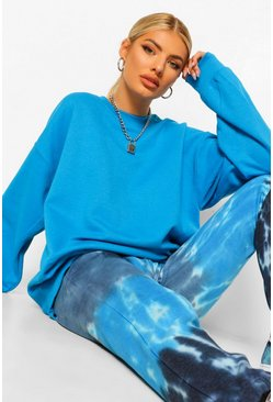 Blue Oversized Blauwe Sweater
