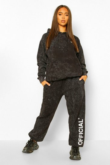Charcoal grey Official Leg Print Oversized Jogger